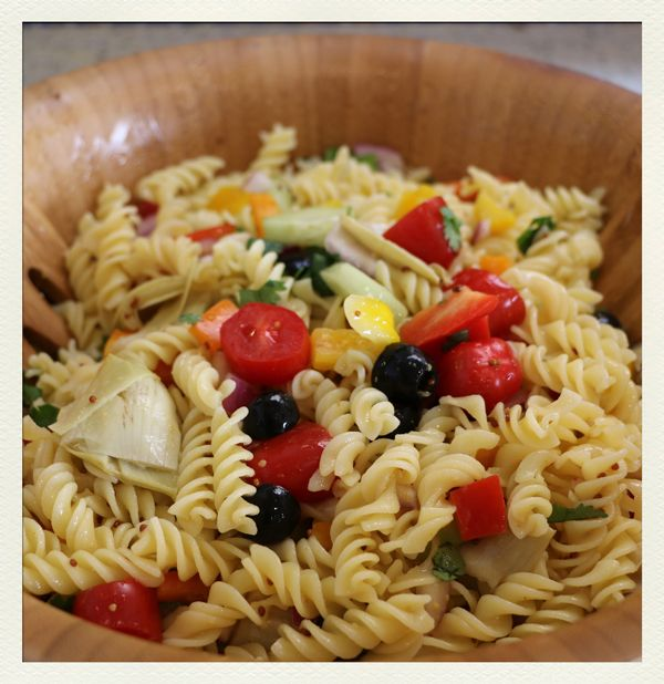 Chew-on-Vegan-Summer-Pasta-Salad-No-Oil