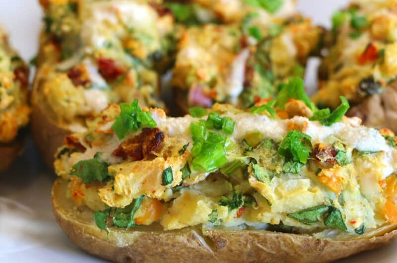 Loaded Potato Skins - Vegan Style