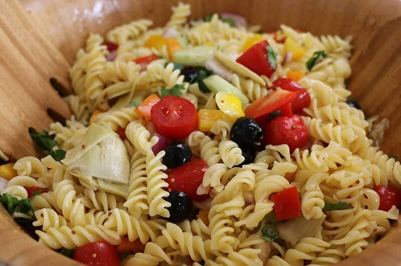 Summer Pasta Salad (Oil Free)